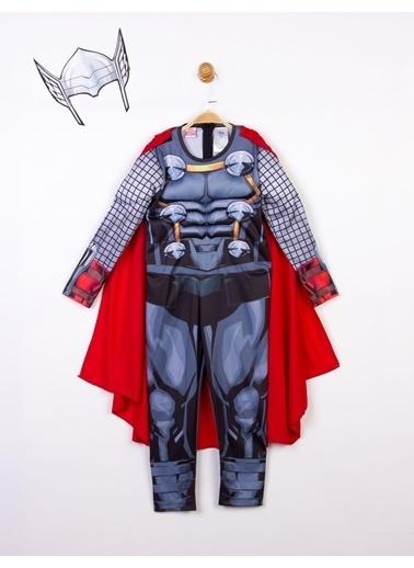 MARVEL Thor Lisanslı Kaslı Çocuk Kostüm Gri